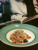 Spaghettini with Anchovies, that is just well done!